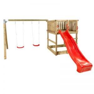 Plus Play Legetårn U/tag - Gyngestativ/gynger/rutche - Trykimprægneret