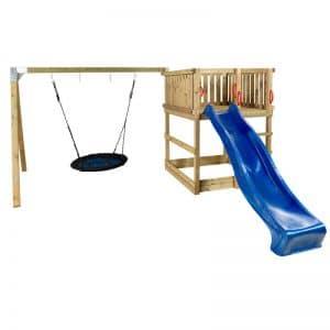Plus Play Legetårn U/tag - Gyngestativ/redegynge/rutche - Trykimprægneret