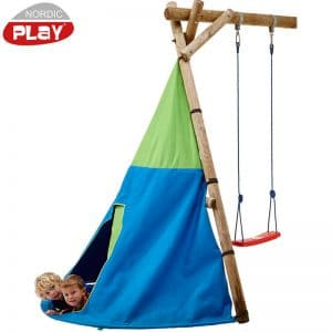 Telt Til Jungle Gym Gyngestativ Blå/grøn 193x190 Cm